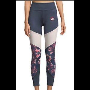Nike Sportswear Floral Leggings Womens Size M